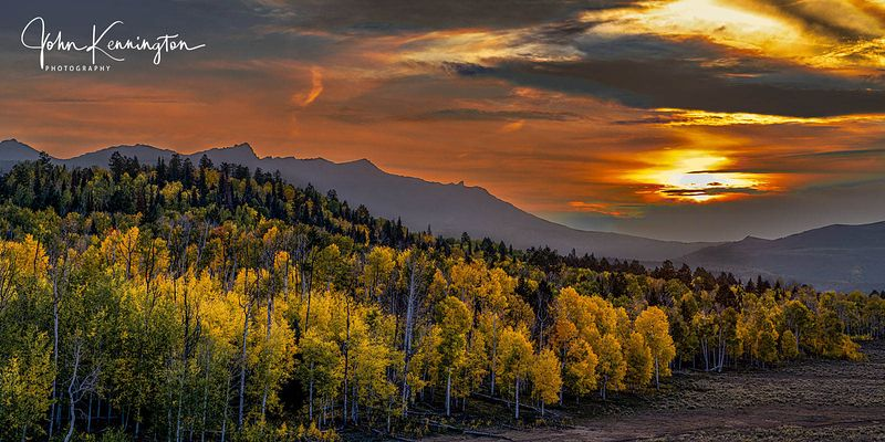 Mount Sneffels Range Sunset (Panoramic), Uncompahgre National Forest, Colorado