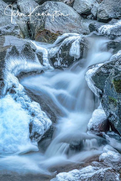 Bridalveil Creek Icy Rocks, Yosemite National Park, California