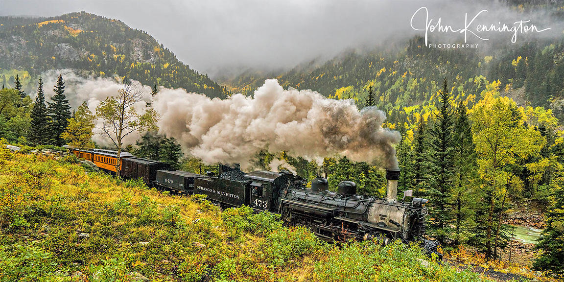 Durango and Silverton In The Clouds Panoramic, Colorado