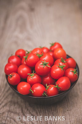 Bowl of Homegrown Organic Cherry Tomatoes