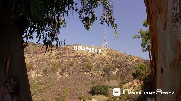 Backing Plate Hollywood Sign Los Angeles California