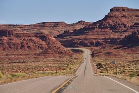 A view of the highway in Southern Utah