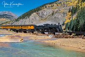 Durango & Silverton Crossing the Animas River, Silverton, Colorado
