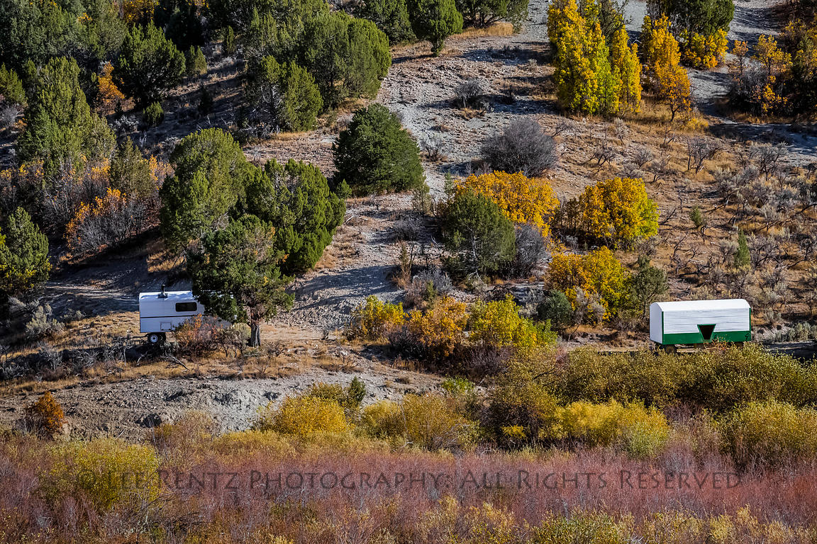 Sheepherder's Wagon and Autumn Color in the Mountains of Utah