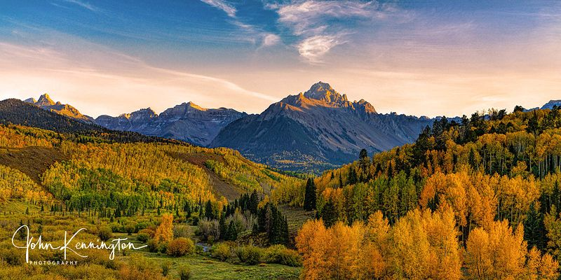 Last Light at Mount Sneffels (Panoramic), Uncompahgre National Forest, Colorado
