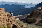 Tourists overlooking Sani Pass, Lesotho
