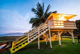 Maui Hawaii Kamaole Beach Lifeguard Stand Photo