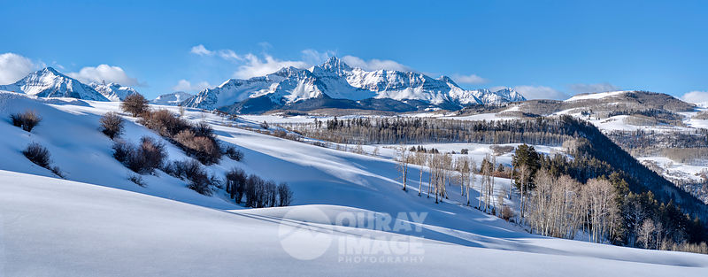 Wilson Peak After Snowstorm  - Large Print OptionPanorama