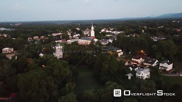 Drone Video Dusk Lynchburg Virginia