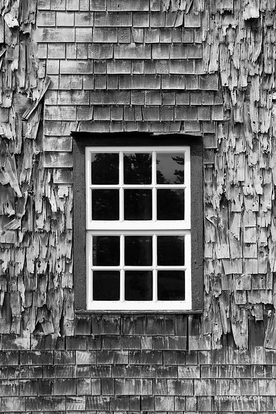 OLD BUILDING WALL WINDOW WASHINGTON ISLAND DOOR COUNTY WISCONSIN BLACK AND WHITE