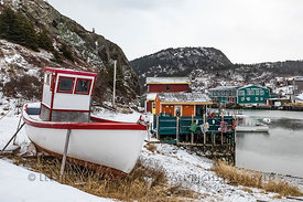 Fishing Boat and Buildings in Quidi Vidi Village