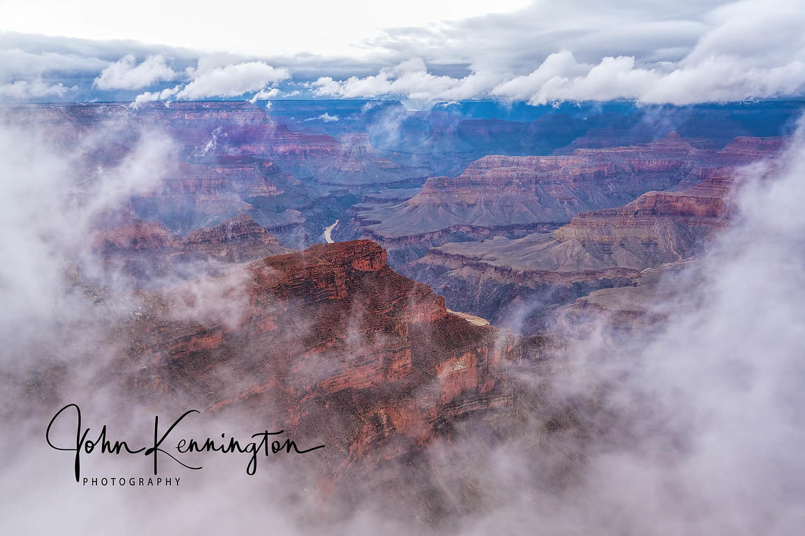 Break In the Clouds, Ganrd Canyon South Rim, Arizona