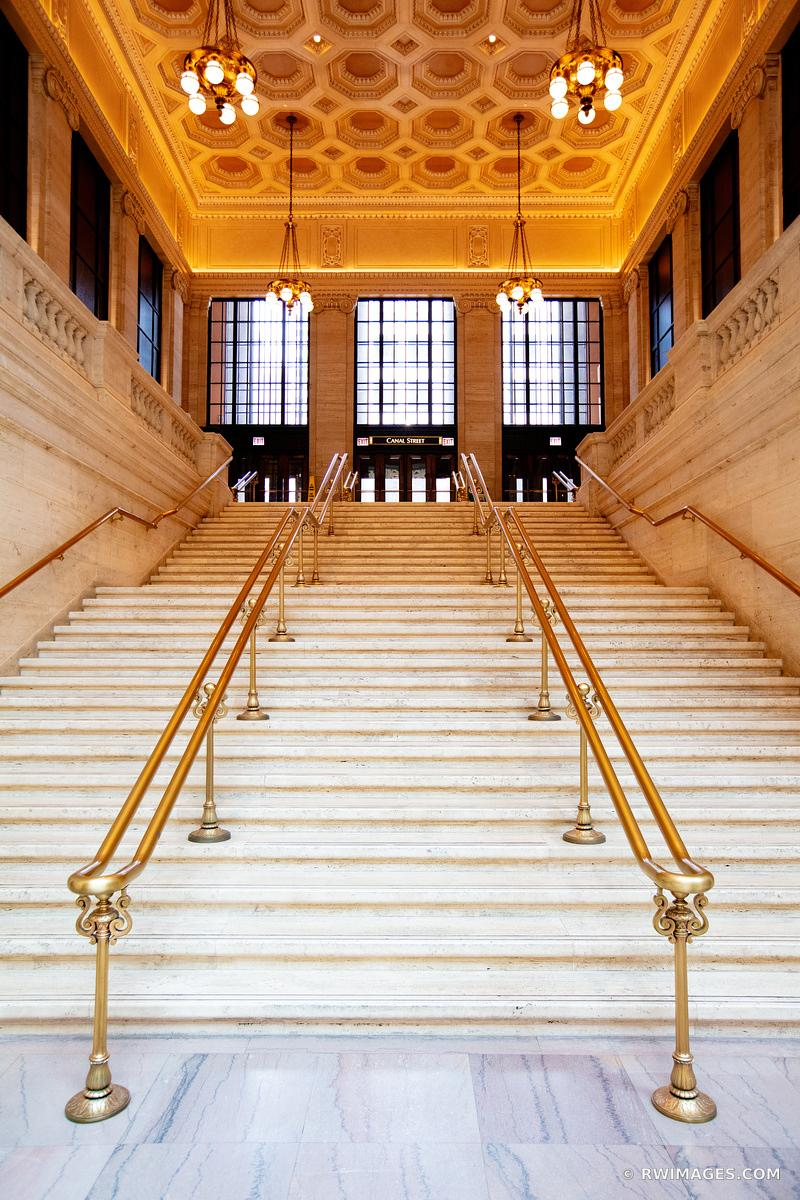 HISTORIC UNION STATION BUILDING INTERIOR CHICAGO ILLINOIS COLOR VERTICAL