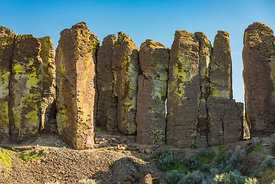 Basalt Columns in Frenchman Coulee, Washington