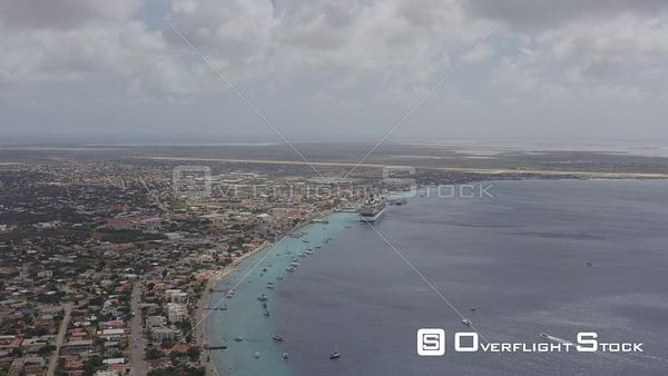Bonaire Caribbean Looking south above Harbour Village Marina