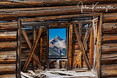 Wilson Peak Through Alta Ghost Town Window, Gunnison National Forest, Colorado