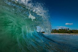 Crashing Wave in the tube