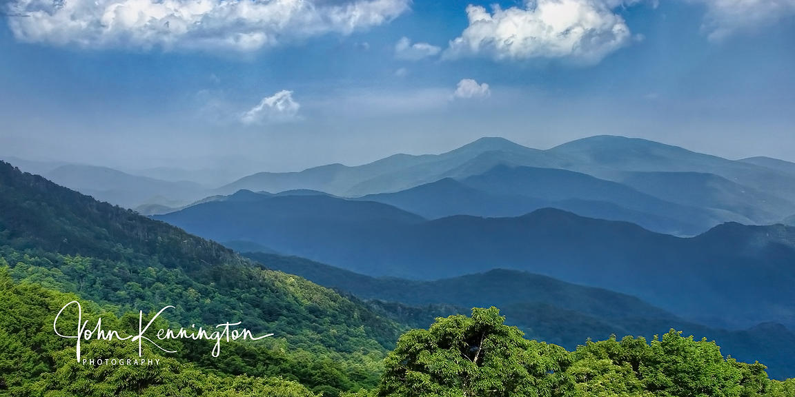 Blue Ridge Skyline Panoramic, Blue Ridge Parkway, Virginia