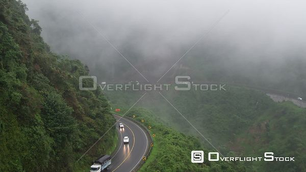 Highway in cloud forrest between Banos de Agua Santa and Santo Domingo.