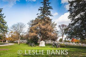 Cannon at Soldiers' National Cemetery in Gettysburg