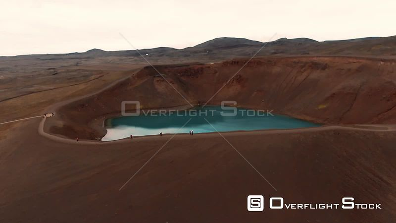 A Lake in a Volcanic Crater in North Iceland