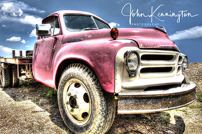 Pink Studebaker, Route 66, Moriarty, New Mexico