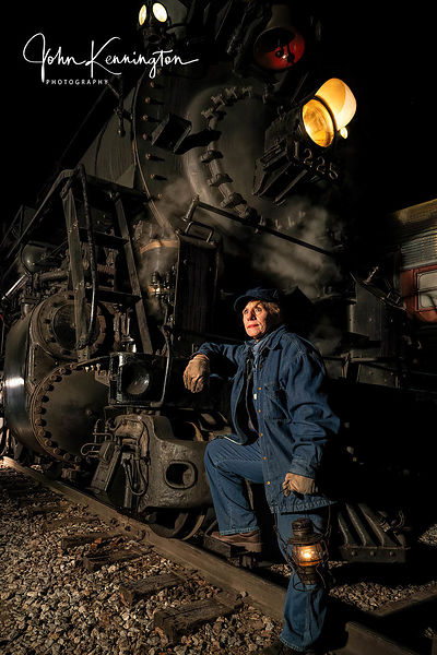Taking a Break on the Pere Marquette #1225, Owosso, Michigan