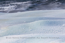 Waves with Ice Rolling in on Fogo Island