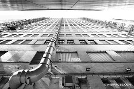 CHICAGO INDUSTRIAL COLLECTION | CHICAGO DOWNTOWN ALLEY CHICAGO ILLINOIS BLACK AND WHITE