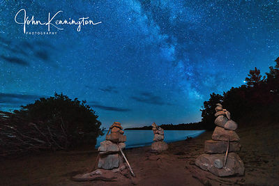 Milky Way Over Cairns, Lake Michigan, Door County, Wisconsin