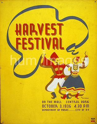 Harvest festival on the mall, Central Park ca. 1936