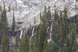 Seven Veils Falls in Yoho National Park