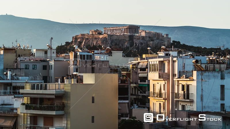 Drone Video Athens Greece Vast Cityscape