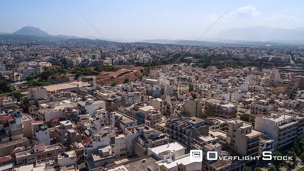 Drone Video Heraklion Crete Cityscape