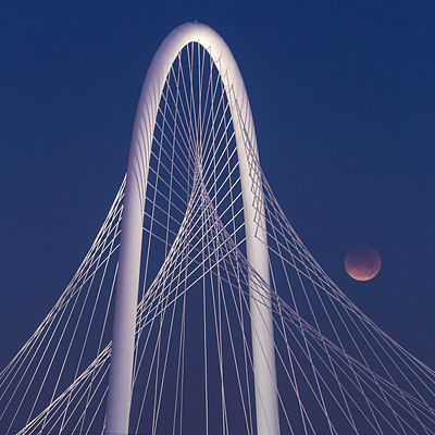 Blood Moon and Margaret Hunt Hill Bridge #3