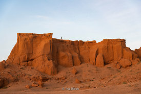 The Flaming Cliffs, Bayanzag, in the south Gobi desert, Mongolia.