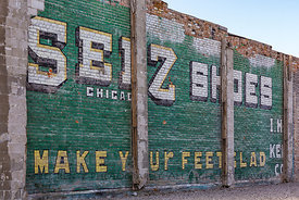 Brick Advertising Sign in Fallon, Nevada