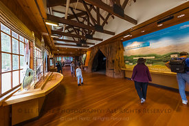 Exhibits in Giant Forest Museum in Sequoia National Park