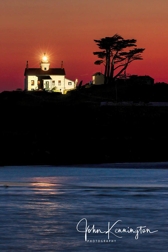 Battery Point Light Sunset, Crescent City, California