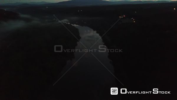 Drone Video Dusk James River Lynchburg Virginia