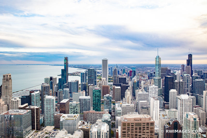 CHICAGO DOWNTOWN AERIAL VIEW CHICAGO ILLINOIS