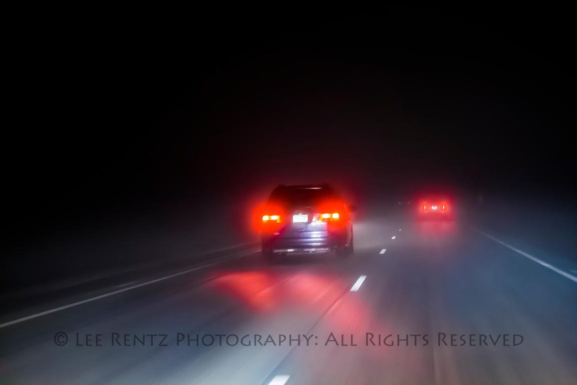 Driving I-90 on a Rainy Night in Minnesota