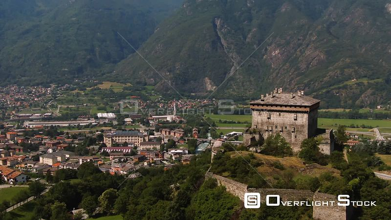 the castle of Verres, in Aosta valley, Italian Alps