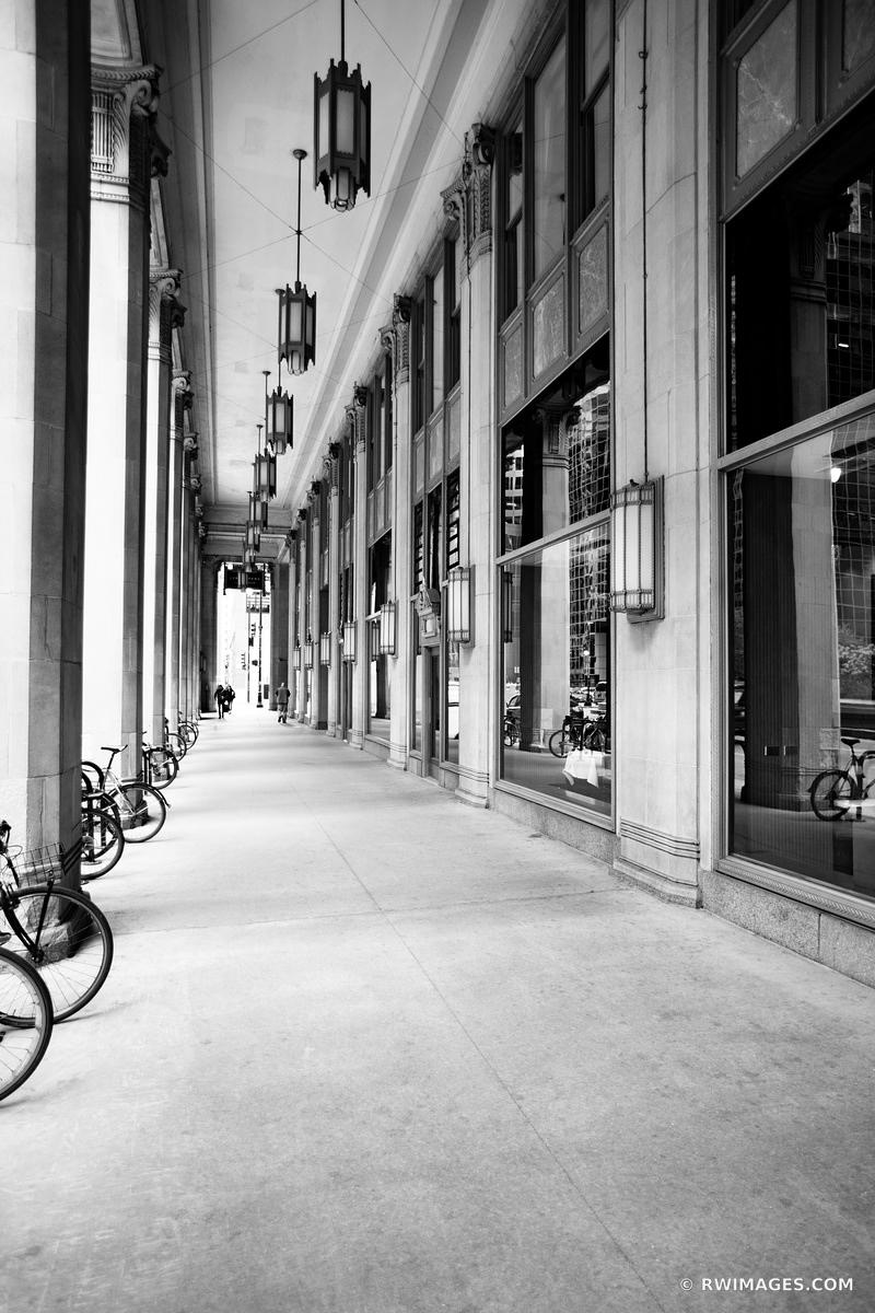CIVIC OPERA BUILDING CHICAGO ILLINOIS BLACK AND WHITE