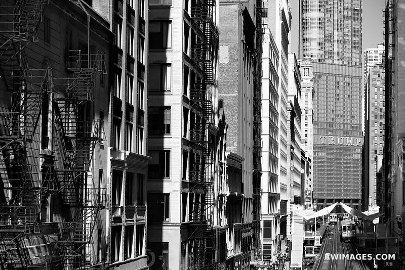 CHICAGO ARCHITECTURE CHICAGO ILLINOIS BLACK AND WHITE