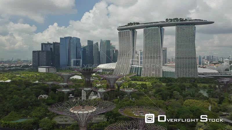 Drone Video Singapore Marina Bay Sands
