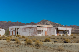 Closed Amboy School along Route 66 in  California