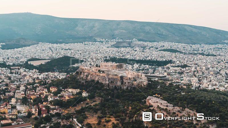 Drone Video Of the Parthenon and Cityscape Athens Greece