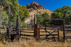 Corral at Faraway Ranch in Chiricahua National Monument