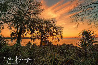 Lake Peigneur Sunset, Rip Van Winkle Gardens, Jefferson Island, Louisiana